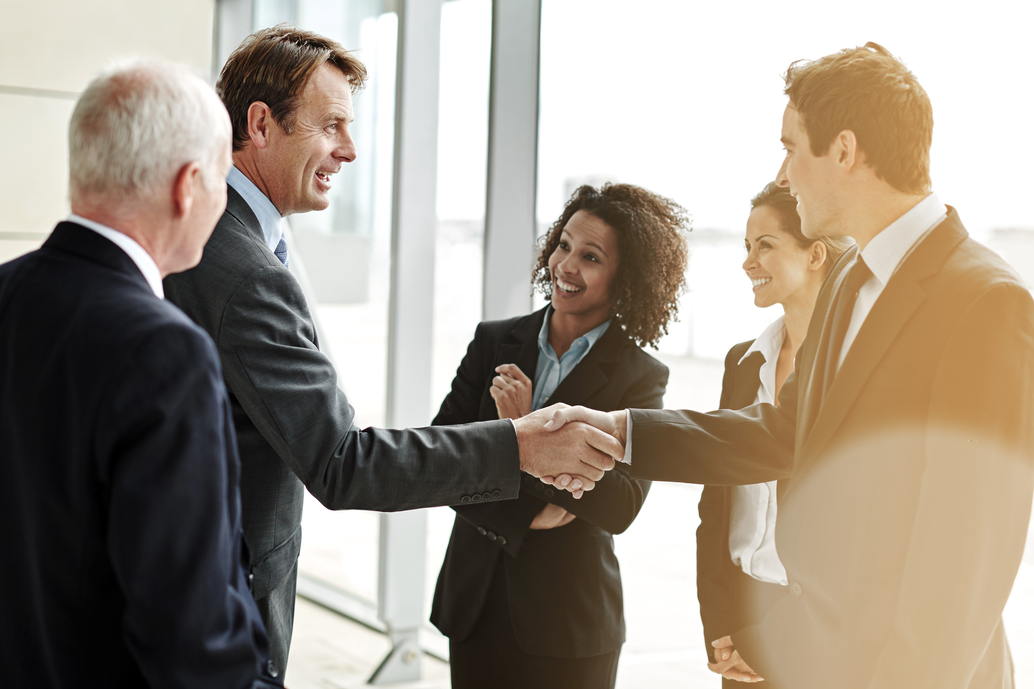 Cropped shot of two businesspeople shaking hands while their colleagues look onhttp://195.154.178.81/DATA/i_collage/pu/shoots/805440.jpg